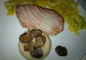 Thunfischsteak, Fenchelgemuese, Selleriepueree