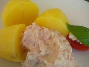 Thunfischpaste mit Kartoffeln