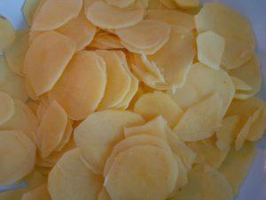Kartoffelchips roh
