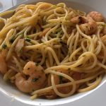 Spaghetti mit Gambas al Pil Pil