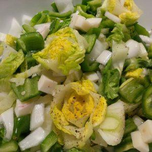 Frischer Salat mit Ziegenkäse