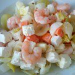 Lunch-Salat mit Garnelen und Schäfskäse, Beitragsbild