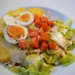 Rohkostsalat mit Karfoffel & Ei
