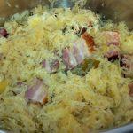 Sauerkraut mit Wammerl
