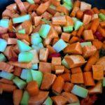 Frische Gemüsepfanne mit Zitronengras