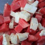 Mediterraner Wassermelonen-Feta-Salat